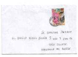 Spain Corida Toro Bull Stamp Send To Macedonia - Hoftiere