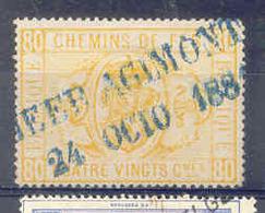 NB 088 TR 5   Nord - Belge Stempel HEER AGIMONT - Chemins De Fer