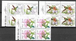 Brazil 1991 Mi.No. 2435 - 2437 Brasilien Birds Vogel  Hummingbirds Flowers Orchids 3v  MNH** 8,40 € - Orchidées