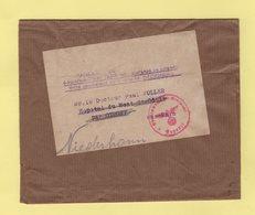 Bande Journal Dispensee De Timbrage - Pour L Hopital Du Mont St Odile - Censure Allemande - Marcophilie (Lettres)
