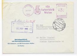 DDR ZKD AFS VEB Farbenfabrik Wolfen 1965 Betriebspoliklinik - Oficial