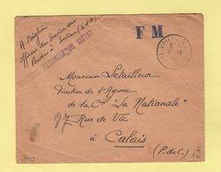 Poudrerie Nationale De Sevran - Vaujours - Banlieue Nord - 3-10-1939 - Marcophilie (Lettres)