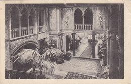 Postcard Hotel Lobby Interior 1920 Hotel Royal Danieli Ingresso E Vestibolo Dall'alto - Venezia (Venice)
