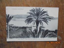 Nice. Vue Entre Les Palmiers, Prise De Sainte Helene. Giletta 186 PM 1909 - Mehransichten, Panoramakarten