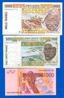Senégal  3  Billets - Sénégal