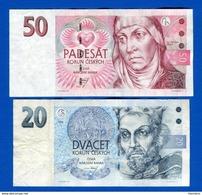 Tchéquie  2  Billets - Czech Republic