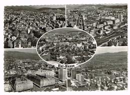 V5103 Biel Bienne - Vue Aerienne Vista Aerea Aeriial View / Viaggiata 1968 - BE Berne