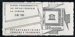 Brazil 1966 UNESCO Souvenier Sheet Unmounted Mint. - Brasilien