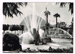 V5116 Saluti Da Lugano - Fontana Sul Lungolago / Viaggiata 1956 - TI Tessin