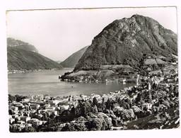 V5120 Lugano - Monte San Salvatore E Il Lago - Panorama / Viaggiata 1955 - TI Tessin