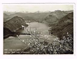 V5122 Lago Di Lugano - Ponte Di Melide - Panorama Vista Da Bella Vista E Serpiano / Non Viaggiata - TI Tessin