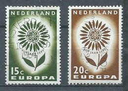 Pays-Bas YT N°801/802 Europa 1964 Oblitéré ° - 1949-1980 (Juliana)