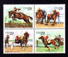 ETATS-UNIS / USA 1993 - Yvert #2152/2155 - Scott #2756/2759 - Neufs ** / MNH - Sports équestres, Chevaux - Estados Unidos