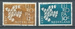 Pays-Bas YT N°738/739 Europa 1961 Oblitéré ° - 1949-1980 (Juliana)