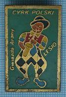 POLAND / Badge /  Circus. Clown Lesio. Cyrk Polski 1970s. - Personajes Célebres