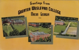 Macon, Georgia   Greetings From Greater Wesleyen College  1930 -1945 - United States