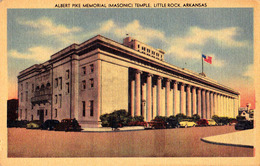 MASONRY / FRANCMAÇONNERIE : ALBERT PIKE MEMORIAL MASONIC TEMPLE - LITTLE ROCK ARKANSAS ~ 1945 - '950 (ae394) - Little Rock