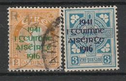 IRLANDE 1941 YT N° 93 Et 94 Obl. - 1937-1949 Éire