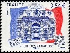 France N° 4028 A ** Ou 117 Autoadhésif  - Institution - Cour Des Comptes - Palais Cambon - France