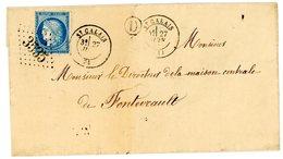 SARTHE LST 1873 ST CALAIS   GC FRAPPE SUPERBE BOITE RURALE D = NON IDENTIFIEE + VERSO B. DE PASSE 2188 = LE MANS SARTHE - Marcophilie (Lettres)