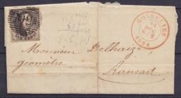 L. Affr. N°6 P50 Càd GOSSELIES /29 DEC 1854 Pour RANSART - 1851-1857 Medallones (6/8)