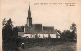 St Saint Germain-d'Echauffour (Orne) Vue Extérieure De L'Eglise - Edition Lévy Et Neurdein, Carte Non Circulée - Autres Communes