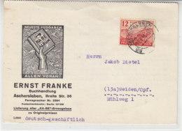 PROVINZ SACHSEN Karte Mit 91 Aus (18) ASCHERSLEBEN 12.3.46 Nach Weiden/Opf. - Zone Soviétique