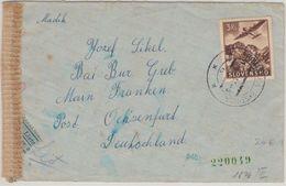 Slowakei - 3 Ks. Flugpostausgabe Luftpostbrief Považská Bystrica Ochsenfurt 1944 - Ohne Zuordnung