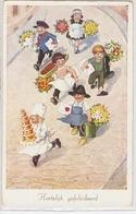 K 1312  OLD FANTASY  POSTCARD   , CHILDREN , FINE ART ,GREETINGS - Sin Clasificación