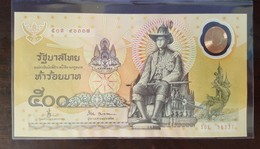 Thailand Banknote 500 Baht 1996 Golden Jubilee HM Accession To Throne Polymer P#101 SIGN#66 - Thailand