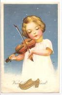 K 1327  OLD FANTASY  POSTCARD   , CHILDREN , FINE ART ,GREETINGS - Sin Clasificación
