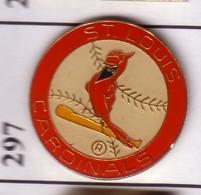 FF297 Pin's Saint-Louis Missouri Usa CARDINALS Bird Oiseau Cardinal Rouge Red équipe De Baseball Achat Immédiat - Animaux