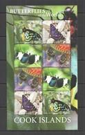 2020 COOK ISLANDS BUTTERFLIES OF THE WORLD FLORA & FAUNA SH MNH - Farfalle