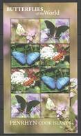 2020 PENRHYN BUTTERFLIES OF THE WORLD FLORA & FAUNA SH MNH - Farfalle