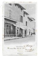 01  -  CPA  PIONNIERE  De  THOISSEY  -  Maison  MARCHAND   Et  Epicerie  COTTIN   En  1902 - Andere Gemeenten