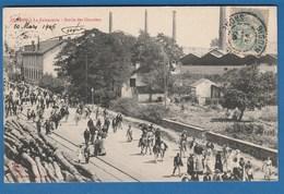 DIGOIN LA FAIENCERIE SORTIE DES OUVRIERS 20 MARS 1906 - Digoin