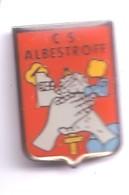 PP41 Pin's Armée Blason écusson Albestroff MOSELLE épée Main Ou Centre Secours Pompiers Pompier Achat Immédiat - Firemen