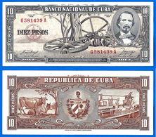 Cuba 10 Pesos 1958 Que Prix + Port Cespedes Peso Centavos Centavo Caraibe Bitcoin OK - Cuba
