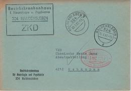 ZKD Bezirkskrankenhaus Neurologie Psychiatrie 324 Haldensleben - Brief Nach Schkopau (rsA Merseburg 1967) - [6] Democratic Republic