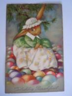 Pasen Pâques Lapin Humanisé Oeufs Konijn Eieren Circulée Edit BR Becro-Pastell 9911 - Dressed Animals