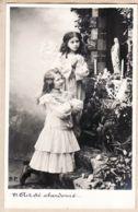 Fant170 Ange Angelot Prière SOUVENEZ VOUS ! N°6 AIT ETE ABANDONNE Carte-Photo D.P R.P.I 1900s - Christianisme