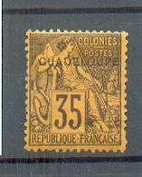 GUAD 490 - YT 23 * - Charnière Complète - GTC (ancienne Charnière Papier Grise Collée Sur 1/4 Du Timbre Verso) - Guadeloupe (1884-1947)