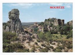 34 Cirque De Mourèze Vers Clermont L'Hérault N°1074 Rochers Dolomitiques Et Village VOIR DOS - Clermont L'Hérault
