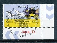 GERMANY Mi.Nr.  3101 Tag Der Briefmarke - ESST -BERLIN -Eckrand Unten Rechts - Used - BRD
