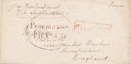 Nederlands Indië - 1861 - EO-Envelopje PROBOLINGO / FRANCO - INDIA PAID - Per Overlandmail Naar Ribworth / UK - Nederlands-Indië