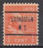 USA Precancel Vorausentwertung Preo, Locals New York, Livingston 723 - Vereinigte Staaten