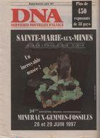 Supplément DNA Bourse Aux Mineraux 1997 SAINTE MARIE AUX MINES - Alsace