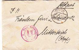 Allemagne - Empire - Lettre  Feldpost De 1918 - Oblit K.D. Feldpost - Exp Vers Mitterteich - Allemagne