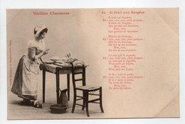 - CPA BERGERET (illustrateurs) - Vieilles Chansons - Il était Une Bergère - Edition Bergeret N° 11 - - Bergeret