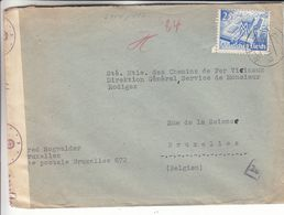 Allemagne - Empire - Lettre De 1940 ° - Exp Vers Bruxelles - Avec Censure - Valeur 75 Euros - Storia Postale